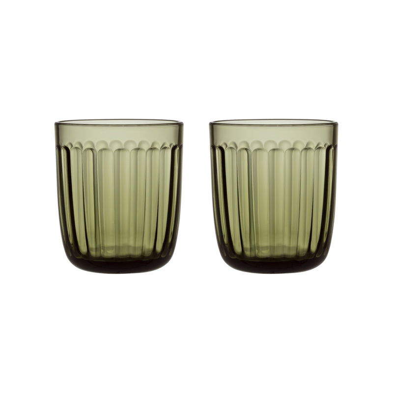 Iittala RAAMI Tumblers (set of 2 | 8.75 oz) moss green