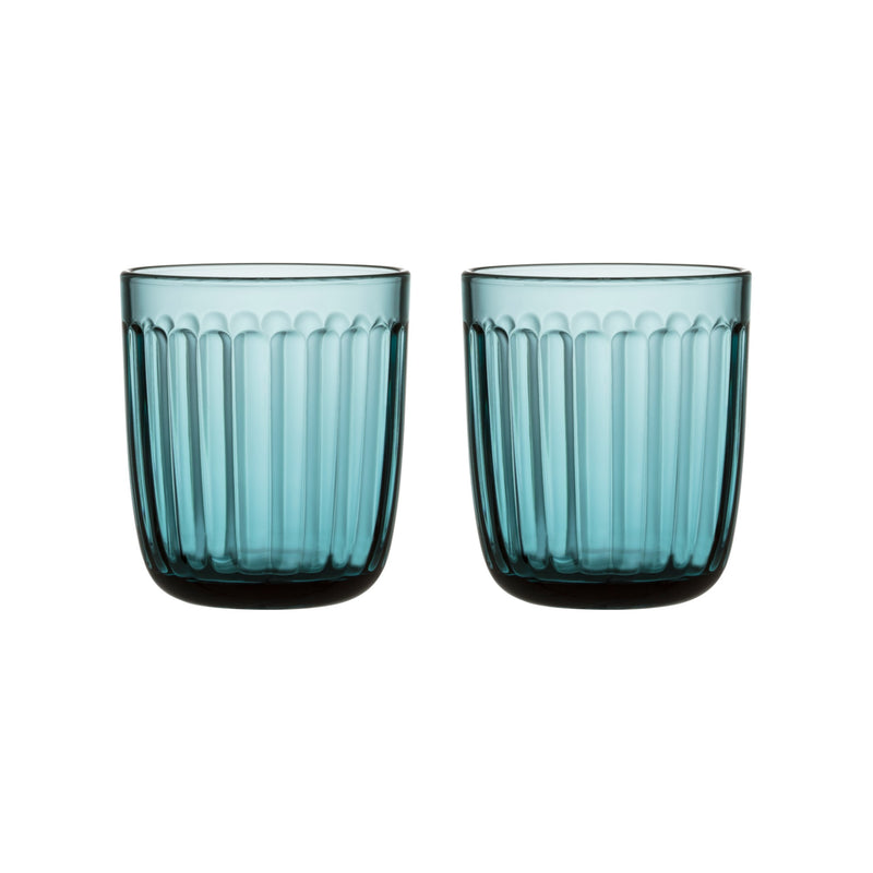 Iittala RAAMI Tumblers (set of 2 | 8.75 oz) sea blue
