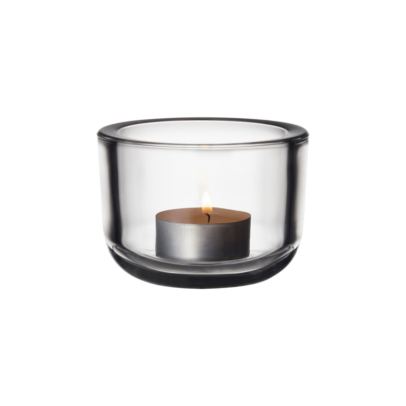 "Iittala VALKEA tealight holder (2.5"") clear"