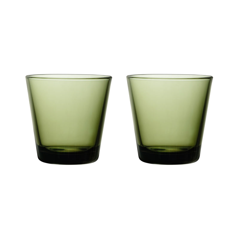 Iittala KARTIO (1958) Tumblers Set of 2 moss green