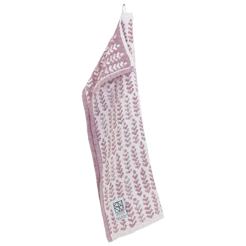Lapuan Kankurit RUUSU x HVITTRÄSK Tea Towel White-Bordeaux