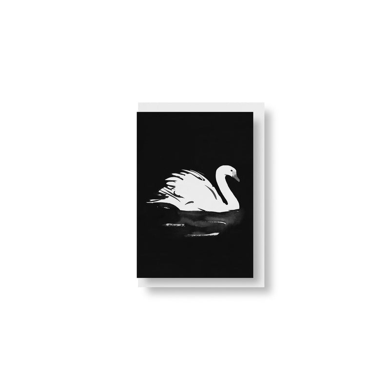 "Teemu Järvi FOLDED POSTCARD with envelope (5.8"" x 8.3"") Black Swan"