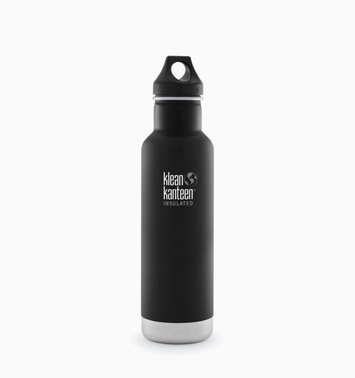 Klean Kanteen 592ml Insulated Classic Loop Cap Bottle - Shale Black