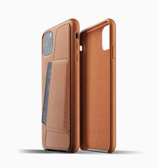 Mujjo iPhone 11 Pro Max Full Leather Wallet Case - Tan