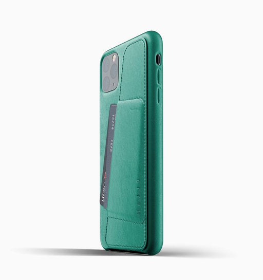 Mujjo iPhone 11 Pro Max Full Leather Wallet Case - Alpine Green