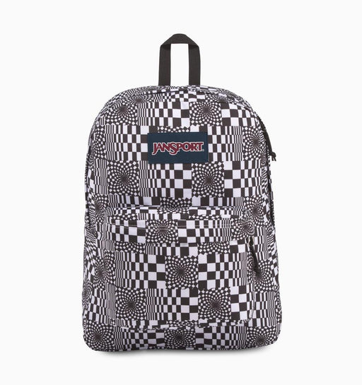 JanSport SuperBreak Backpack - Distorted Checkerboard