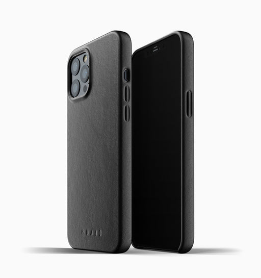 Mujjo Full Leather Case for iPhone 12 Pro Max - Black