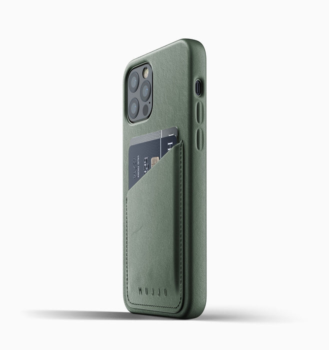 Mujjo Leather Wallet Case Iphone 12 - Slate Green