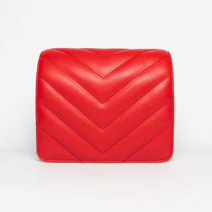 Quilted Chevron Face in Red