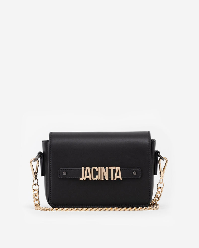 Pre-order (Mid-June): Gold Edition: Crossbody Bag in Black with Personalised Hardware