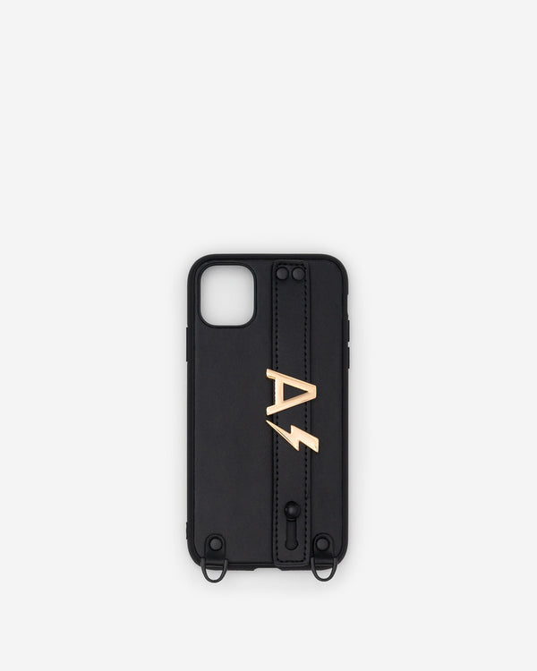 iPhone 11 Case in Black/Gold with Personalised Hardware