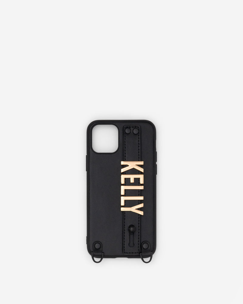 iPhone 11 Pro Case in Black/Gold with Personalised Hardware