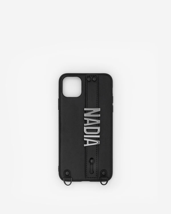 iPhone 11 Pro Max Case in Black/Gunmetal with Personalised Hardware