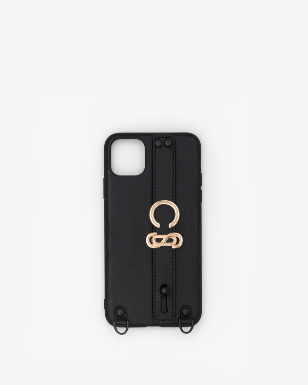 iPhone 11 Pro Max Case in Black/Gold with Personalised Hardware