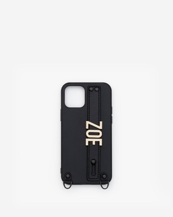 iPhone 12 / 12 Pro Case in Black/Gold with Personalised Hardware