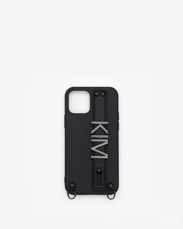 iPhone 12 / 12 Pro Case in Black/Gunmetal with Personalised Hardware