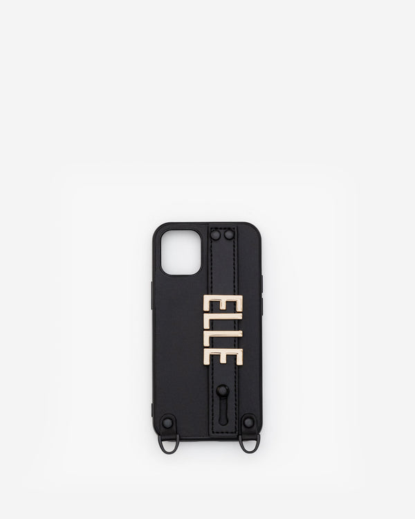 iPhone 12 Mini Case in Black/Gold with Personalised Hardware