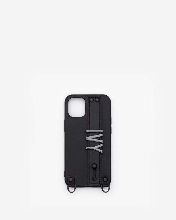 iPhone 12 Mini Case in Black/Gunmetal with Personalised Hardware