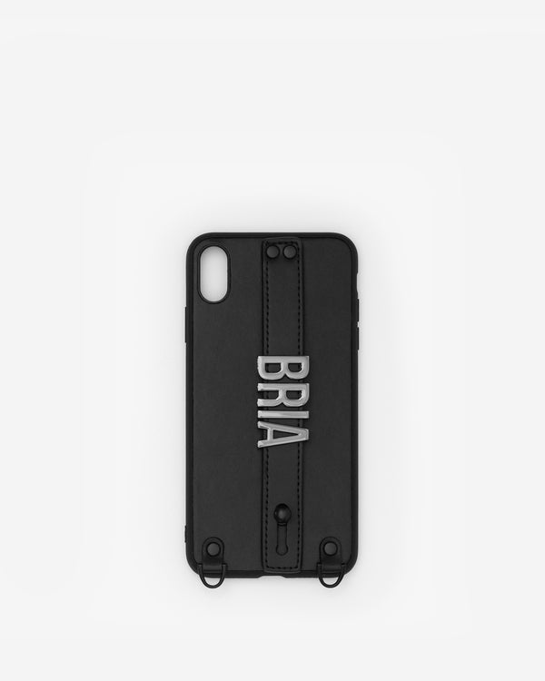 iPhone XS Max Case in Black/Gunmetal with Personalised Hardware