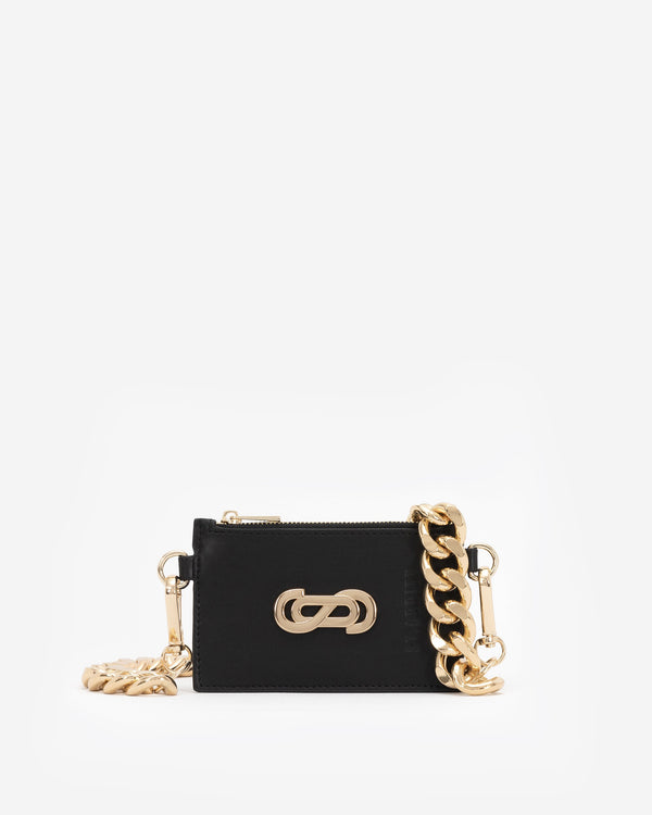 Motif Cardholder with Oversized Chain in Gold