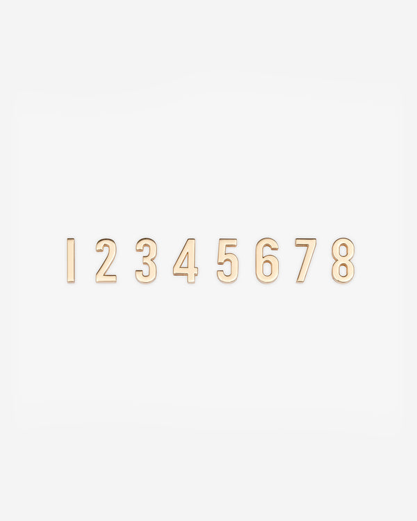 Set of 8 Standard Letters, Numbers & Symbols in Gold
