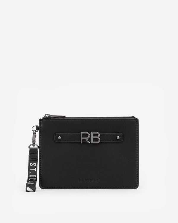 Pouch in Black/Gunmetal with Personalised Hardware