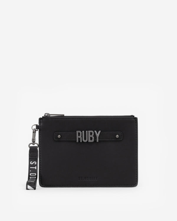 Pouch in Black with Personalised Hardware
