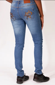 Barisimo's Love for Women Jeans Gold