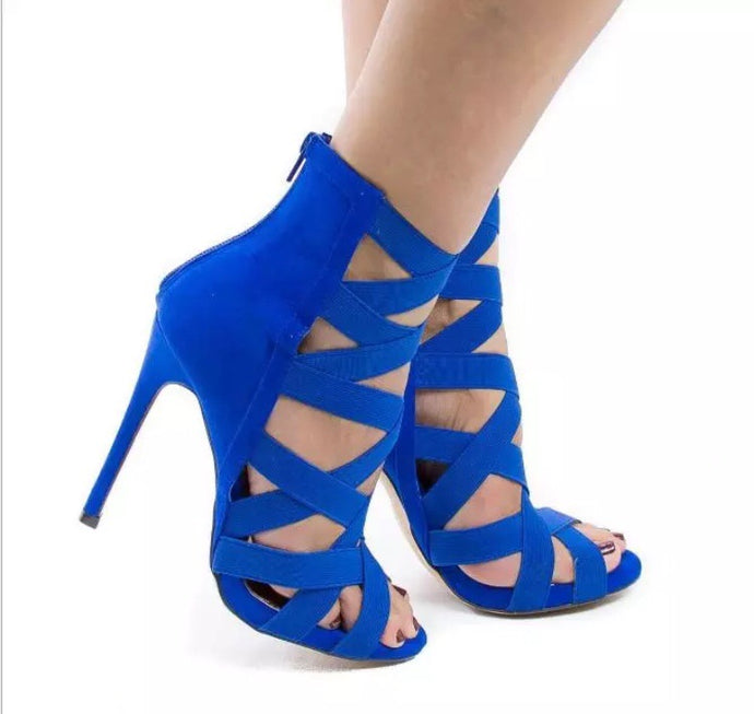 Barisimo Barrbe Stiletto Shoes (Blue)