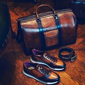 Barisimo Leather Travel Set