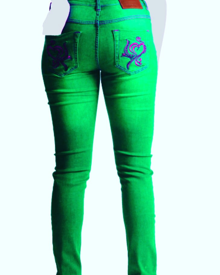 Barisimo's Love for Women Jeans green