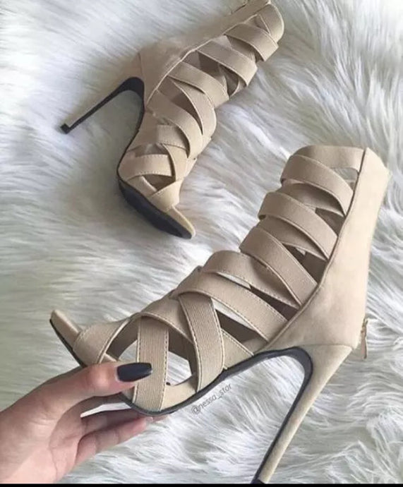 Barisimo Barrbe Stiletto Shoes (Tan)