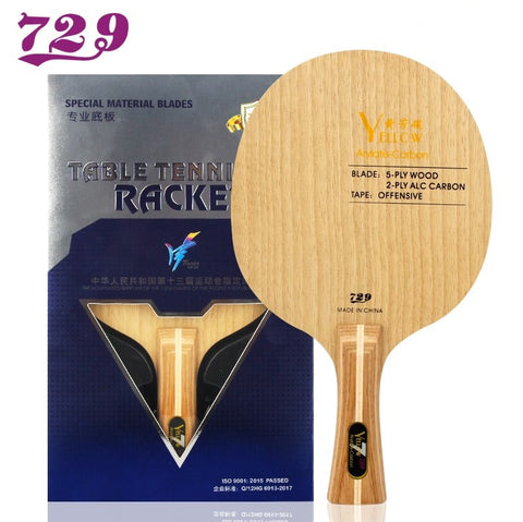 729 Yellow Carbon Table Tennis Blade Offensive