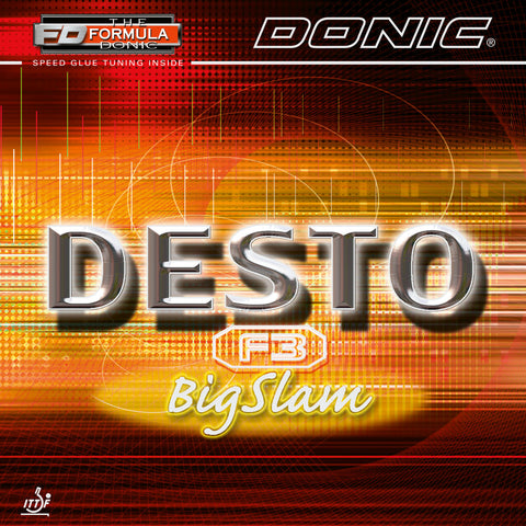 Donic Desto F3 Big slam rubber