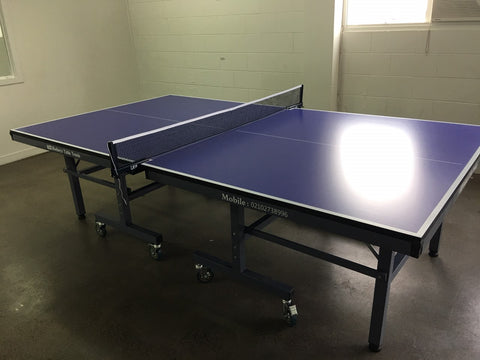 Rodneys 25mm Table Tennis table fold up with wheels  2 bats
