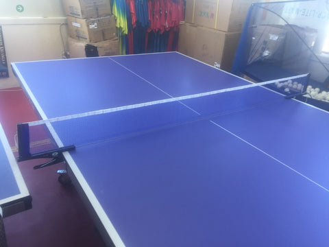 Rodneys 18mm Table Tennis table 2 bats fold up with wheels