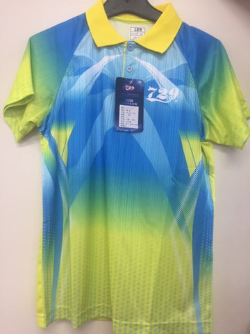 729 yellow table tennis shirt