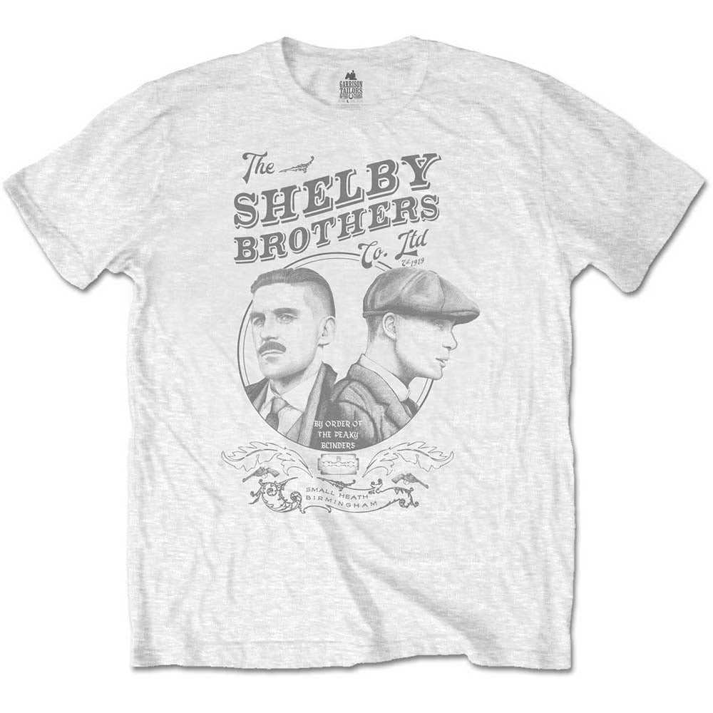 b2d7be9f Peaky Blinders ' Shelby Brothers Circle' White Official Unisex T-Shirt