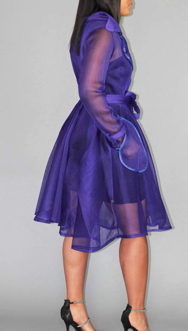VIOLET HONEYCOMB COAT