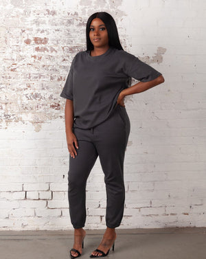 Oversized Lightweight Set-Gray