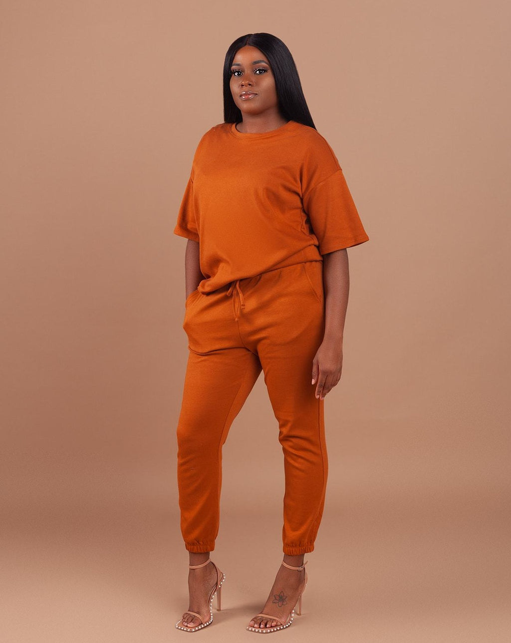 Oversized Lightweight Set-Rust