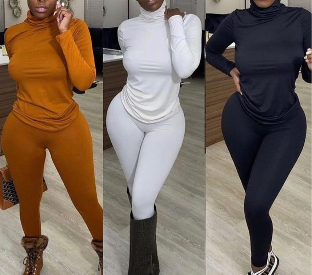SKIN BASICS-TURTLENECK SET (5 colors avail)