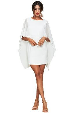 BREEZE MINI CAPE DRESS