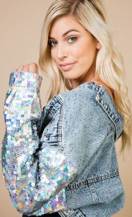 CELESTIAL CROP DENIM JACKET