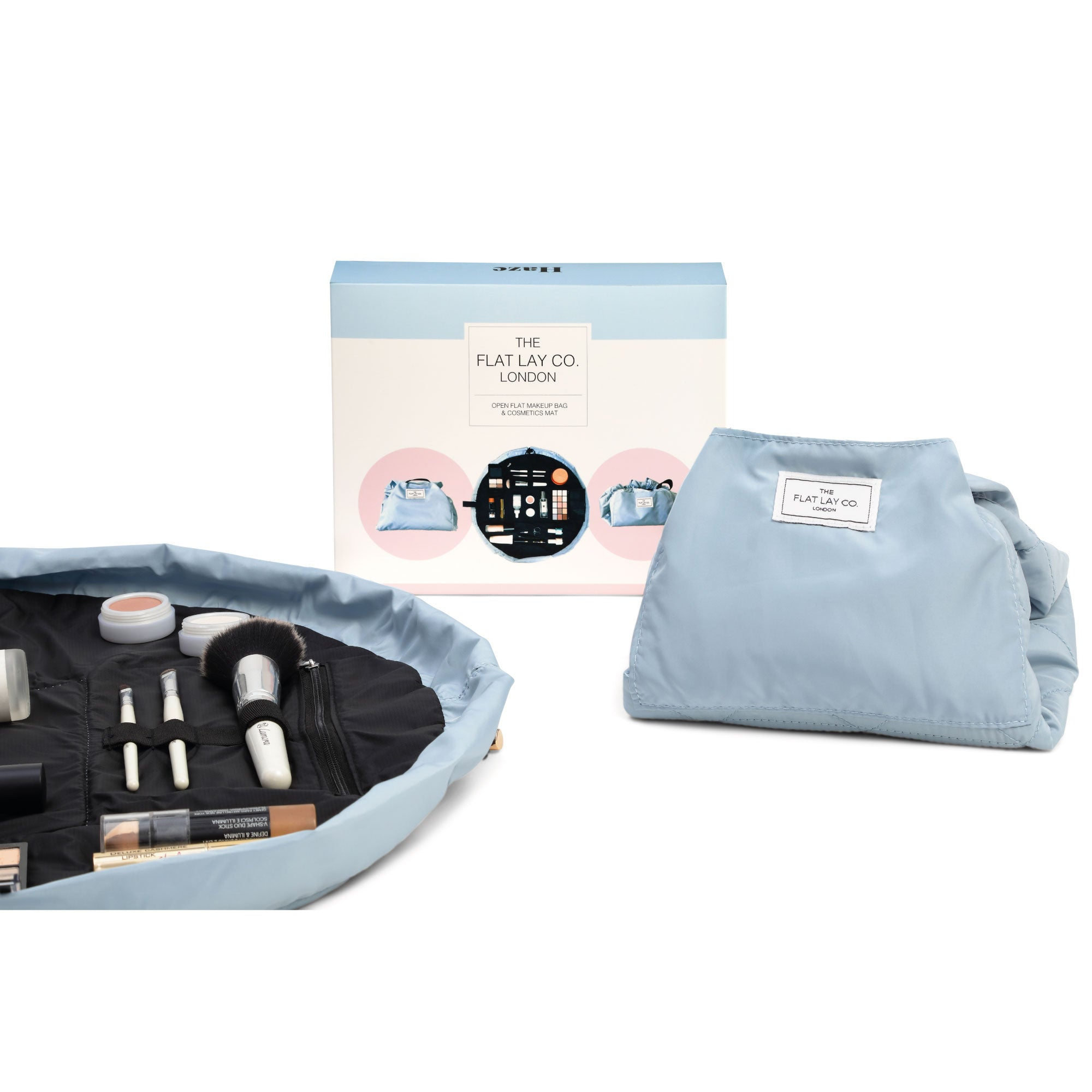 Haze Blue Open Flat Makeup Bag 50cm