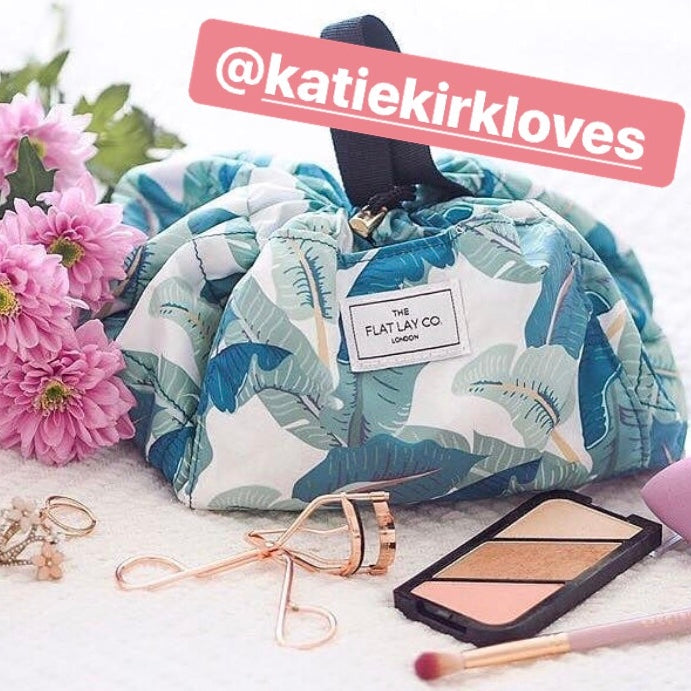 Tropical Leaves Open Flat Makeup Bag 50cm 🇦🇺