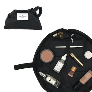 Mini Open Flat Makeup Bag Classic Black 🇺🇸