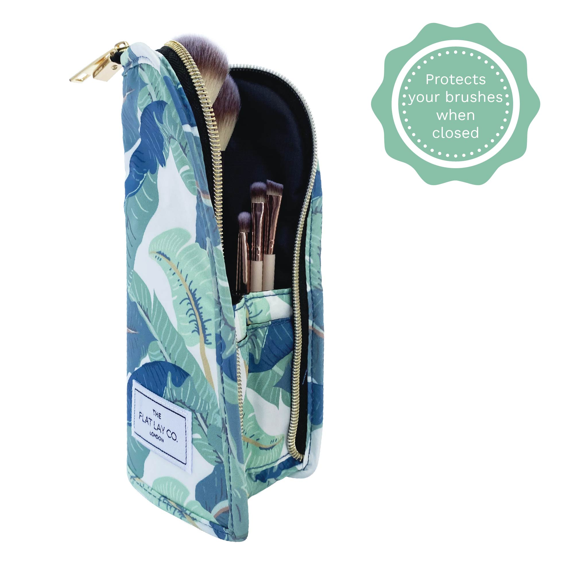 Tropical Leaves Standing Brush Case