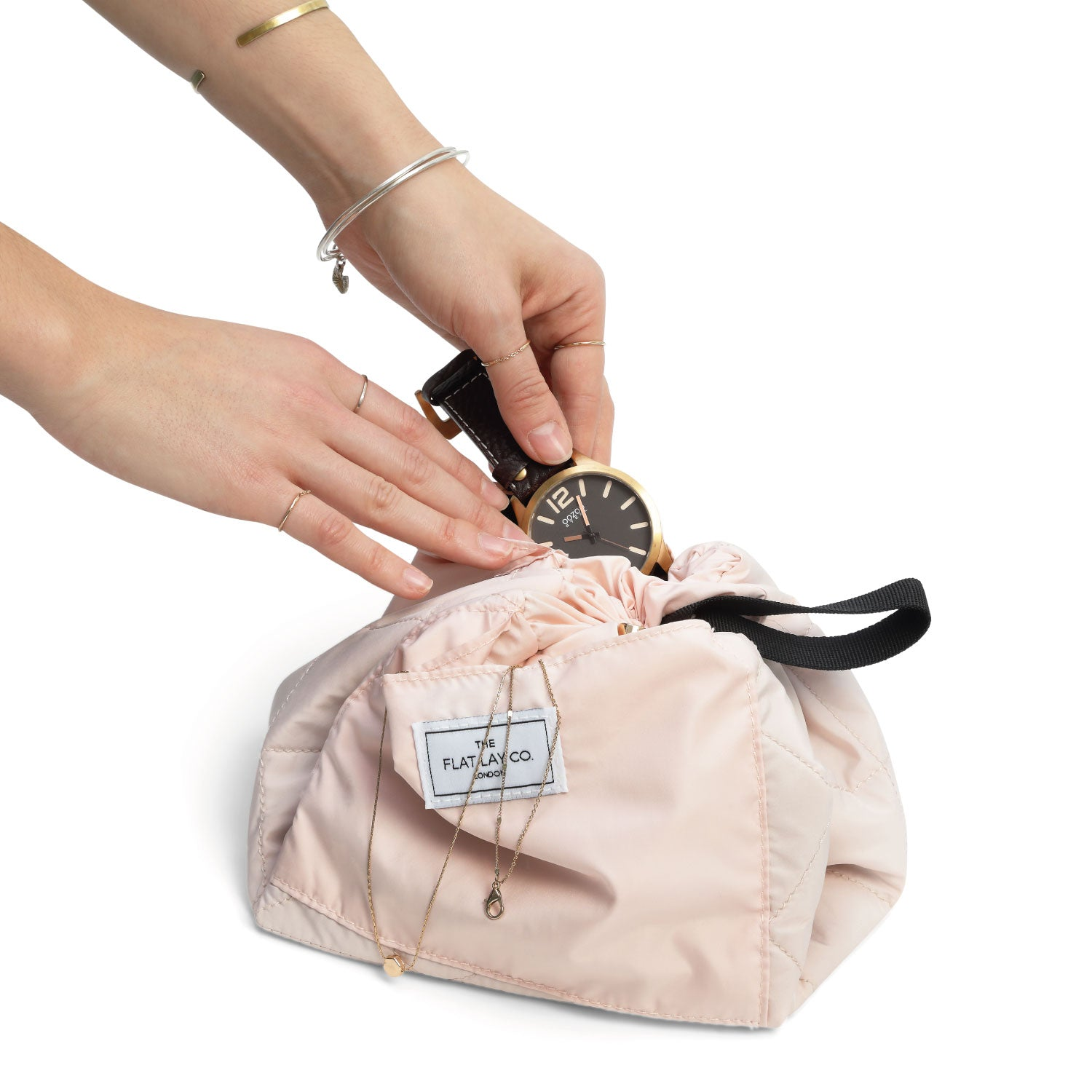 Blush Pink Open Flat Makeup Bag 50cm EUR