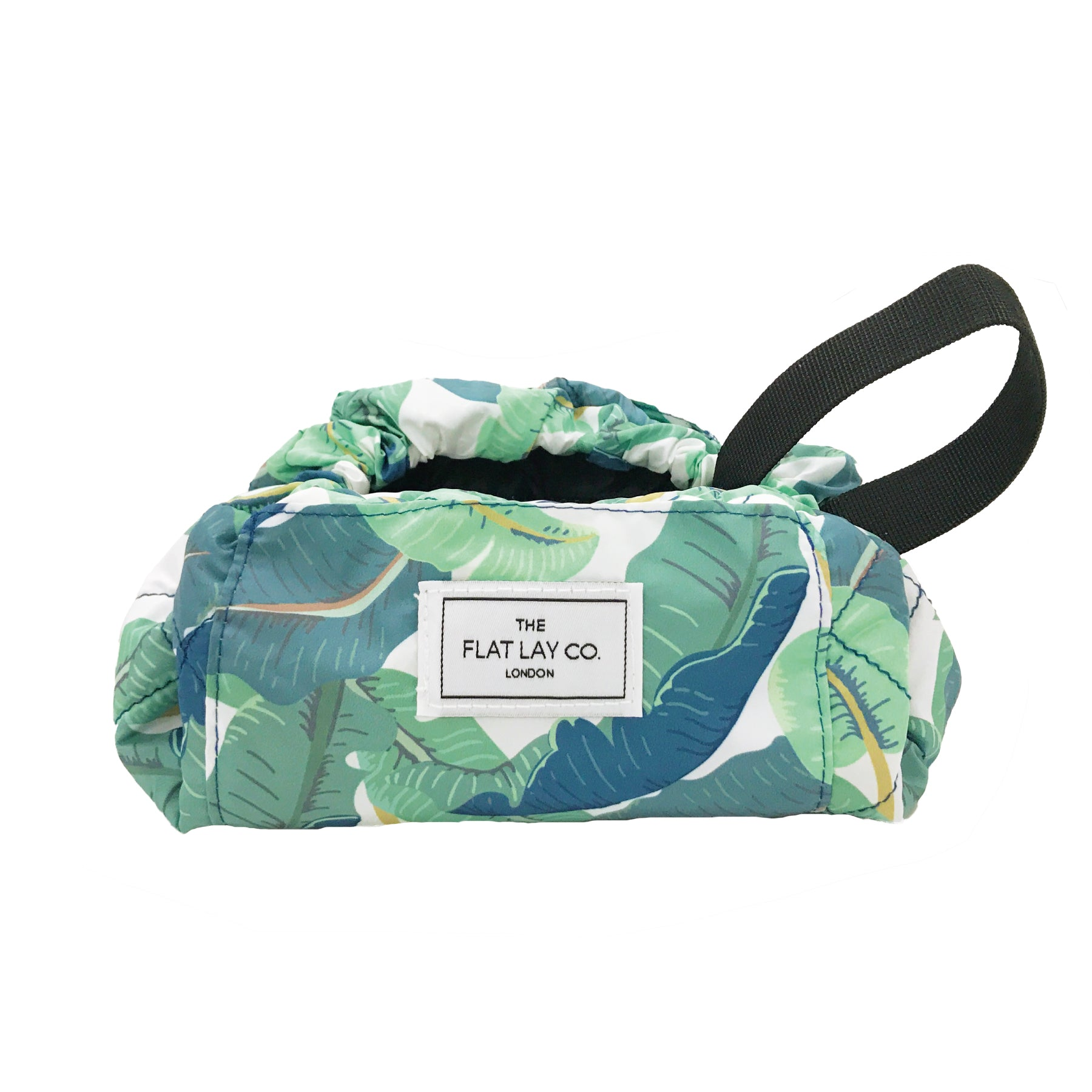 Mini Open Flat Makeup Bag Tropical Leaves 🇺🇸